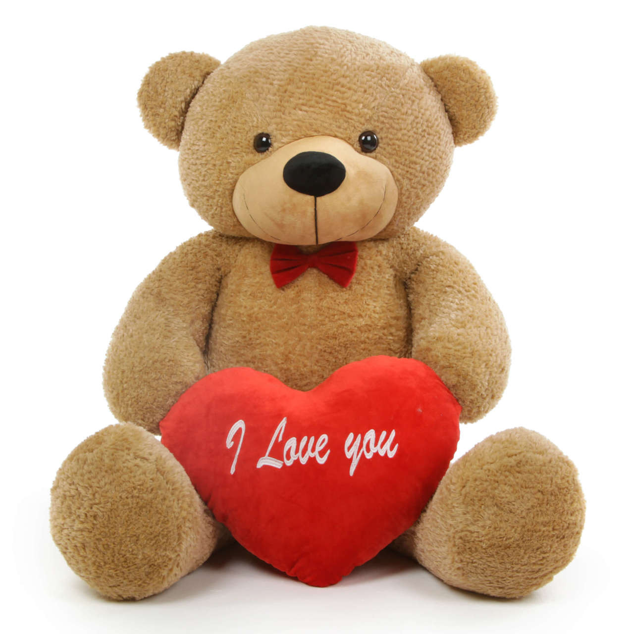 Shaggy L Cuddles 48 Amber Teddy Bear W I Love You Heart