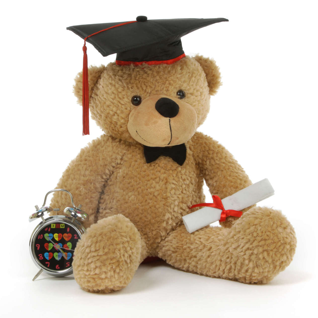 Shaggy G Cuddles Amber Graduation Teddy Bear with Cap and Diploma 24in