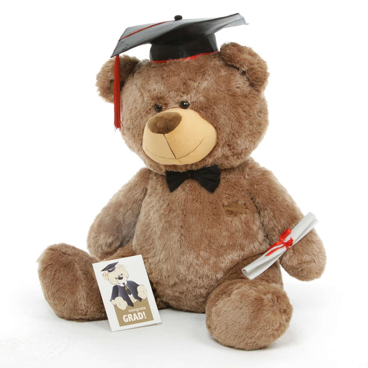 Graduation Teddy Bear with Cap and Diploma