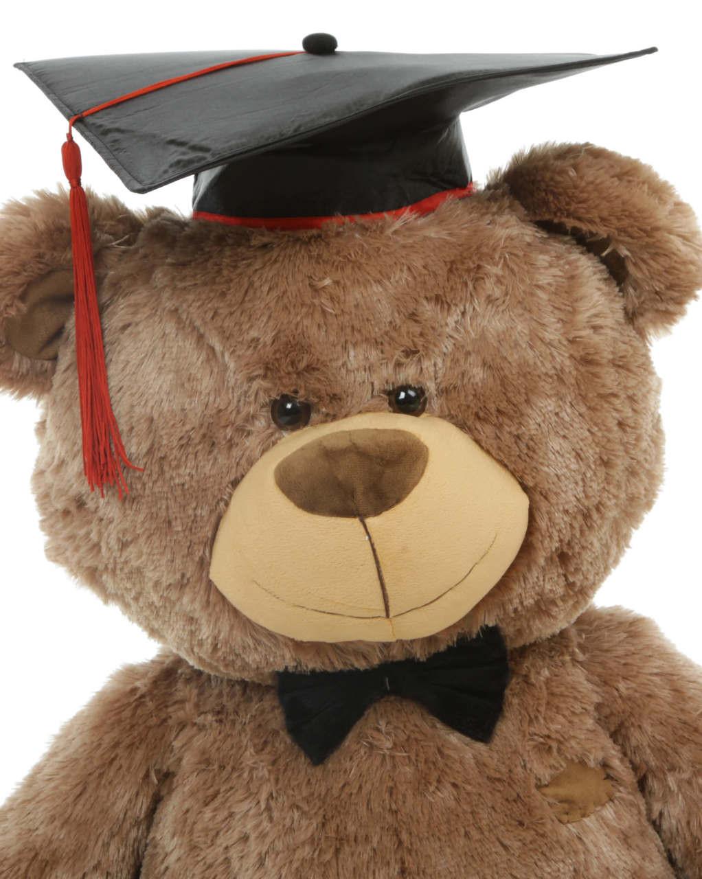 35 Inch Big Brown Shags Teddy Bear in Sitting Position - Graduation Gift