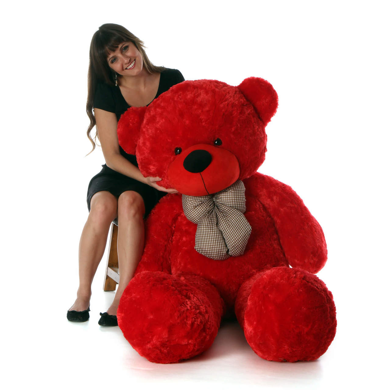 Life Size Red Teddy Bear Bitsy Cuddles 60in