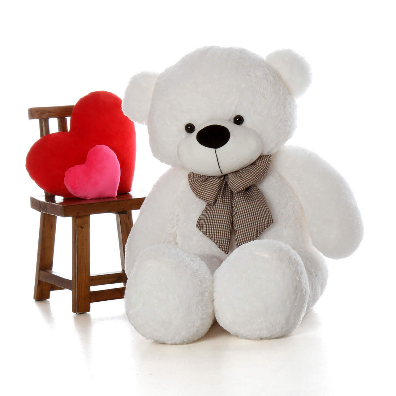 60in Coco Cuddles White Teddy Bear