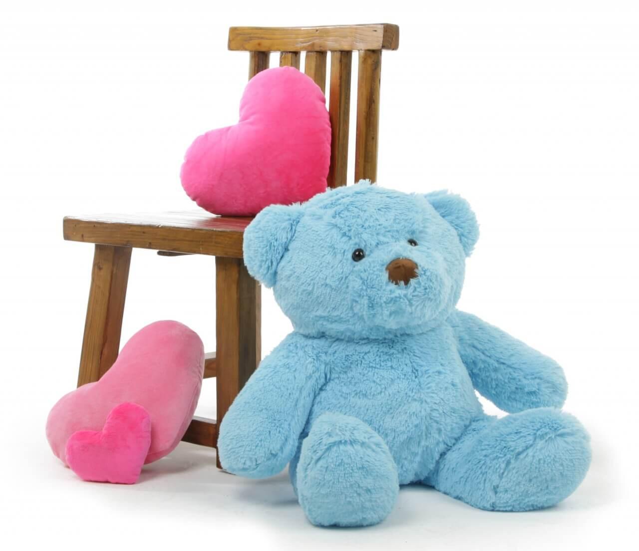 Sammy Chubs Extra Plump and Adorable Sky Blue Teddy Bear 24in