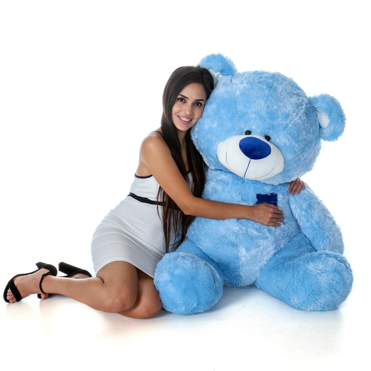 45 Inch Blue Sitting Position Huge Teddy Bear