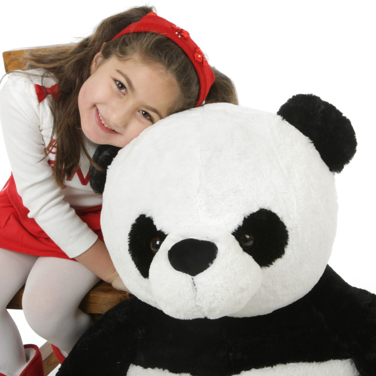 Mama Xin Huggable Black and White Stuffed Panda Teddy Bear 36in