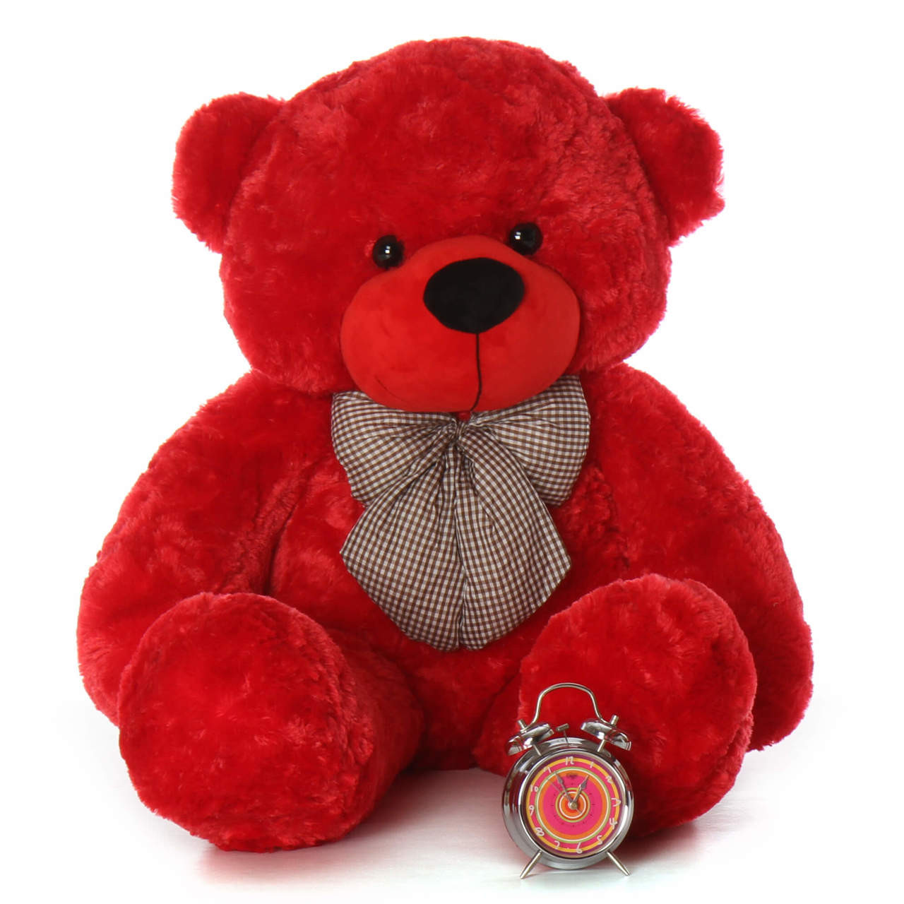 4ft Red Life Size Teddy Bear Bitsy Cuddles from Giant Teddy brand