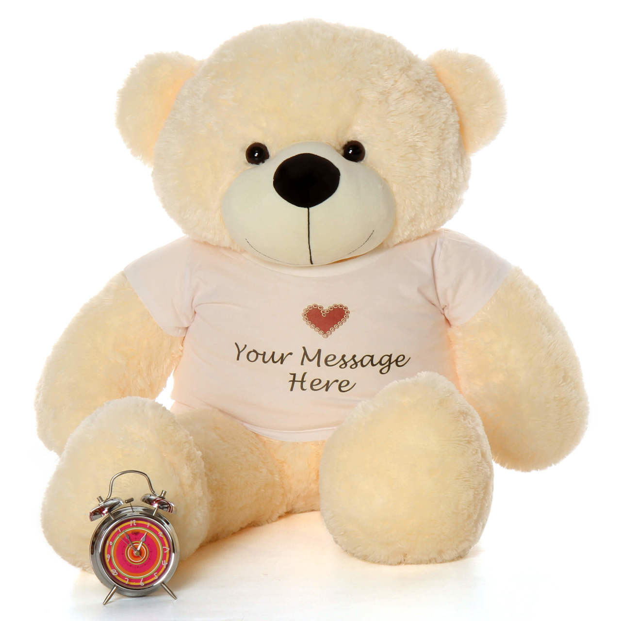 4 ft huge teddy bear vanilla cuddles that will bring lots of love to share