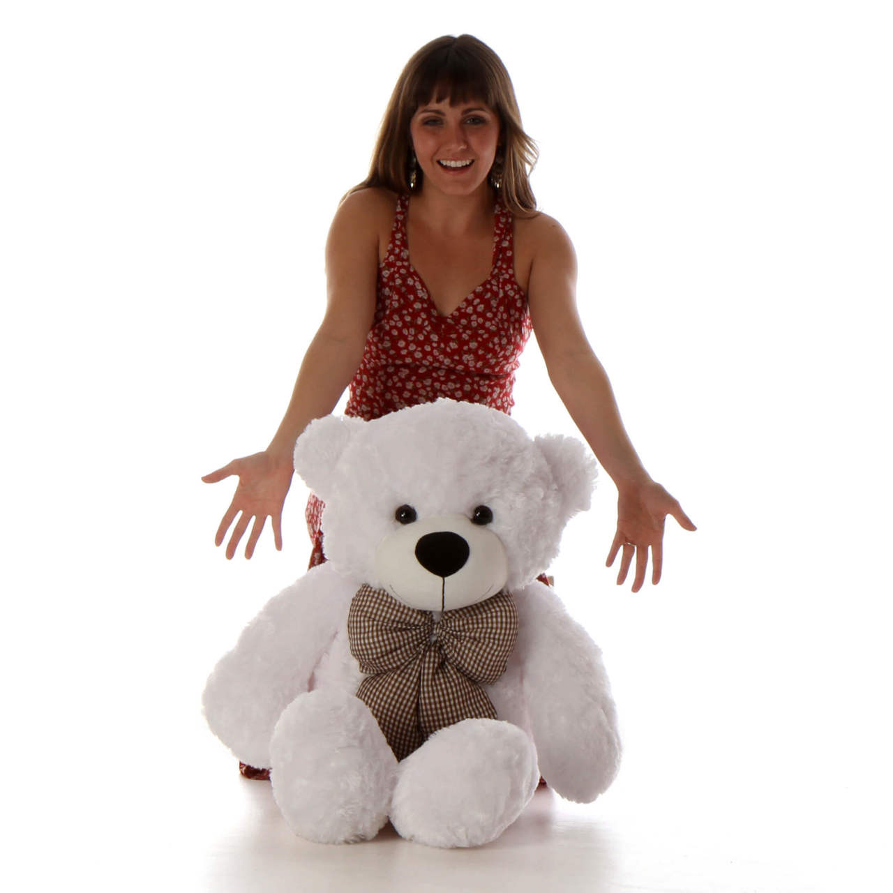 38in cutest gift White Teddy Bear huggable and soft Coco Cuddles