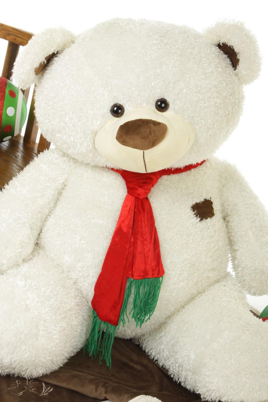 Big Plush Adorable Shags Teddy Bear with Christmas Scarf