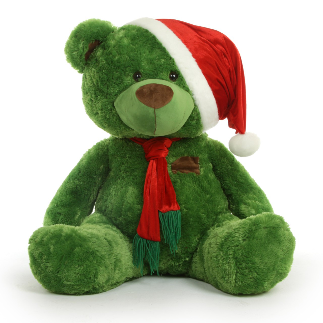Image result for green christmas teddy bear