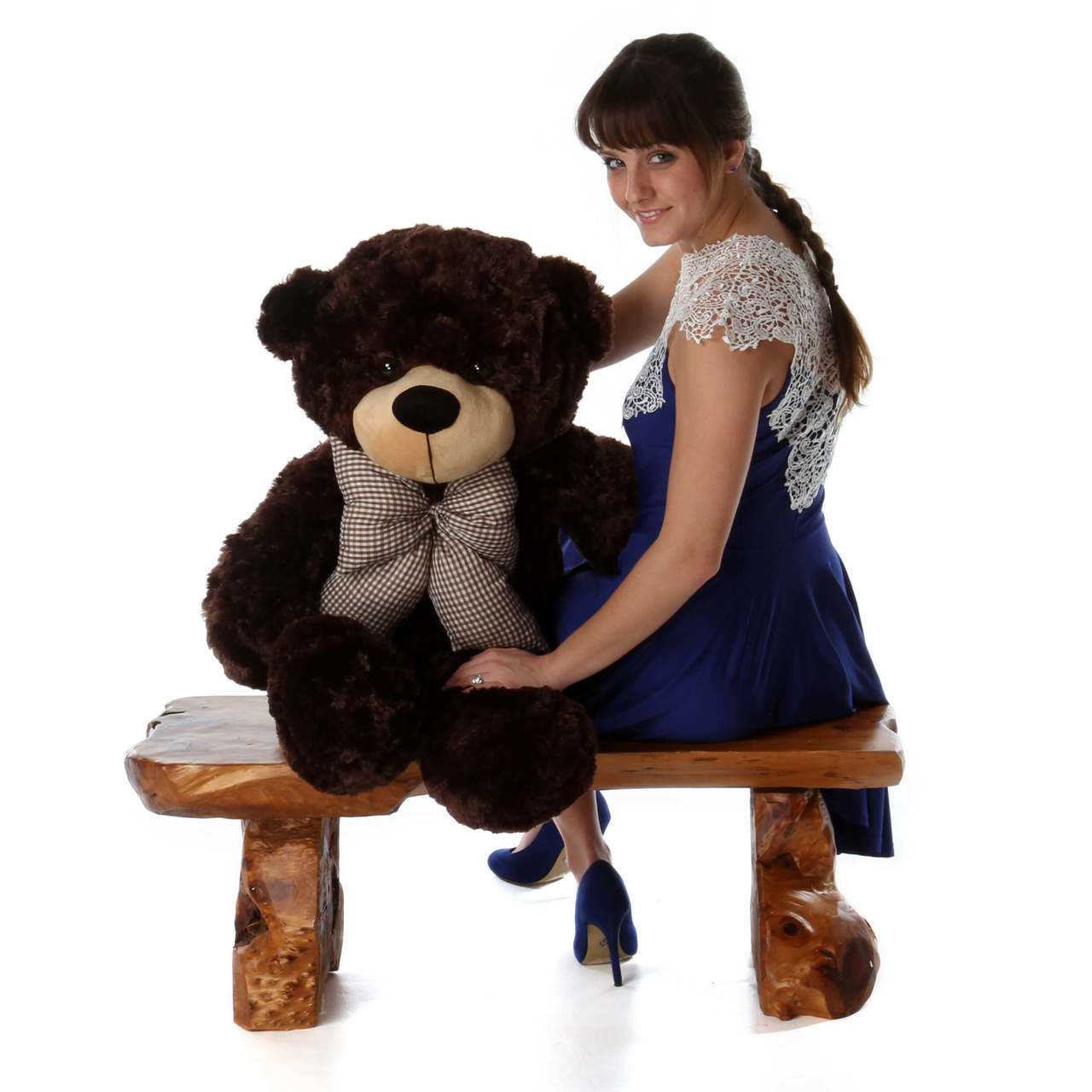 38in Brownie Cuddles Chocolate Brown Teddy Bear