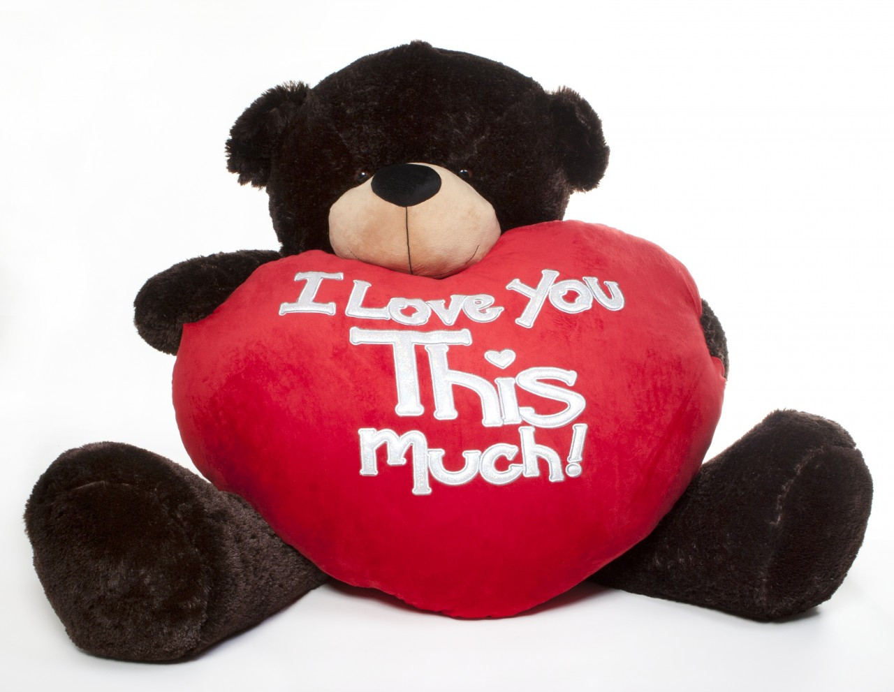 Brownie Cuddles Valentine S Day Teddy Bear With Heart Pillow I