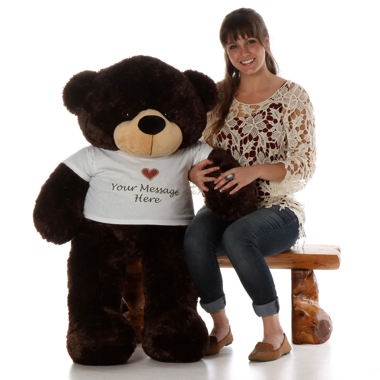 4ft Cutest Big Teddy Bear Hugs from Brownie CuddlesPersonalized Giant Teddy Bear!