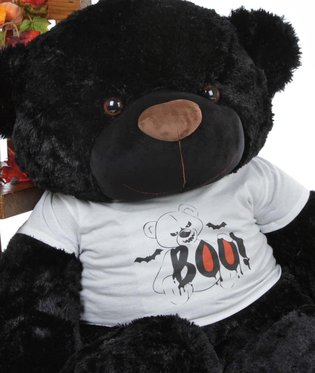 Huge Black Halloween Teddy Bear