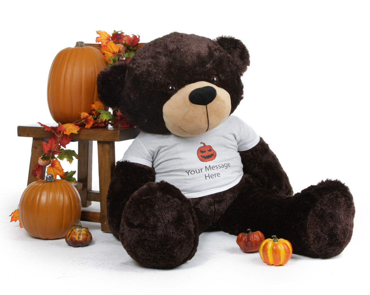 Awesome Brownie Cuddles Personalized Giant Halloween Teddy Bear 48in
