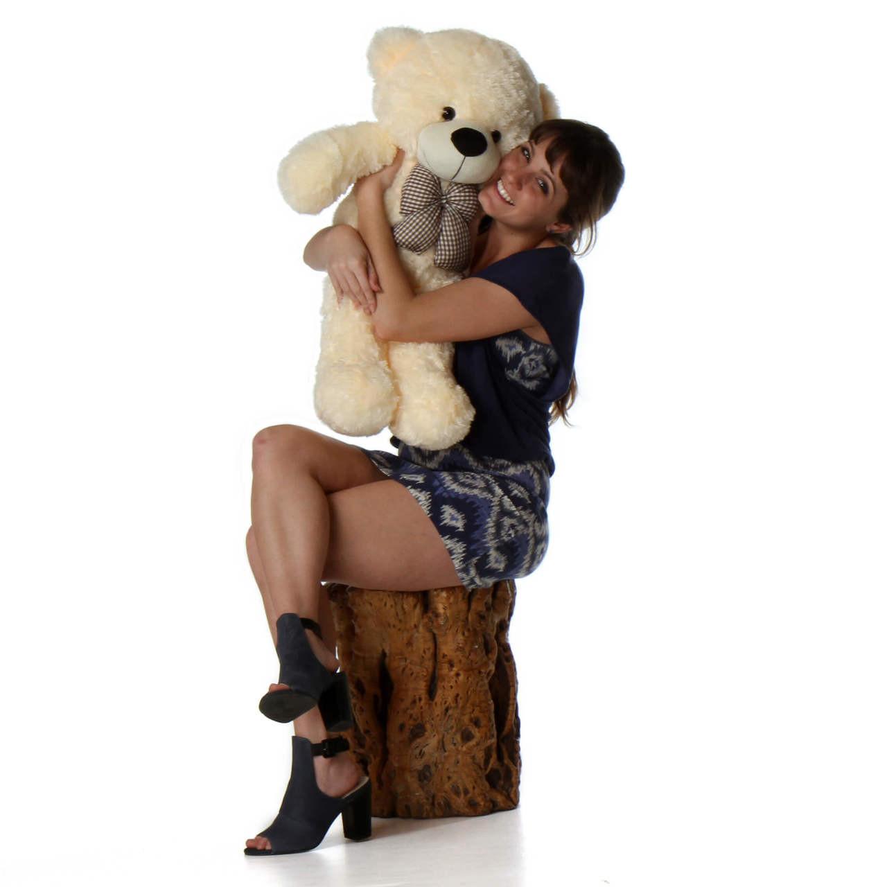 big teddy bear huge huggable soft huggable fur Cozy plush Cuddles from Giant Teddy
