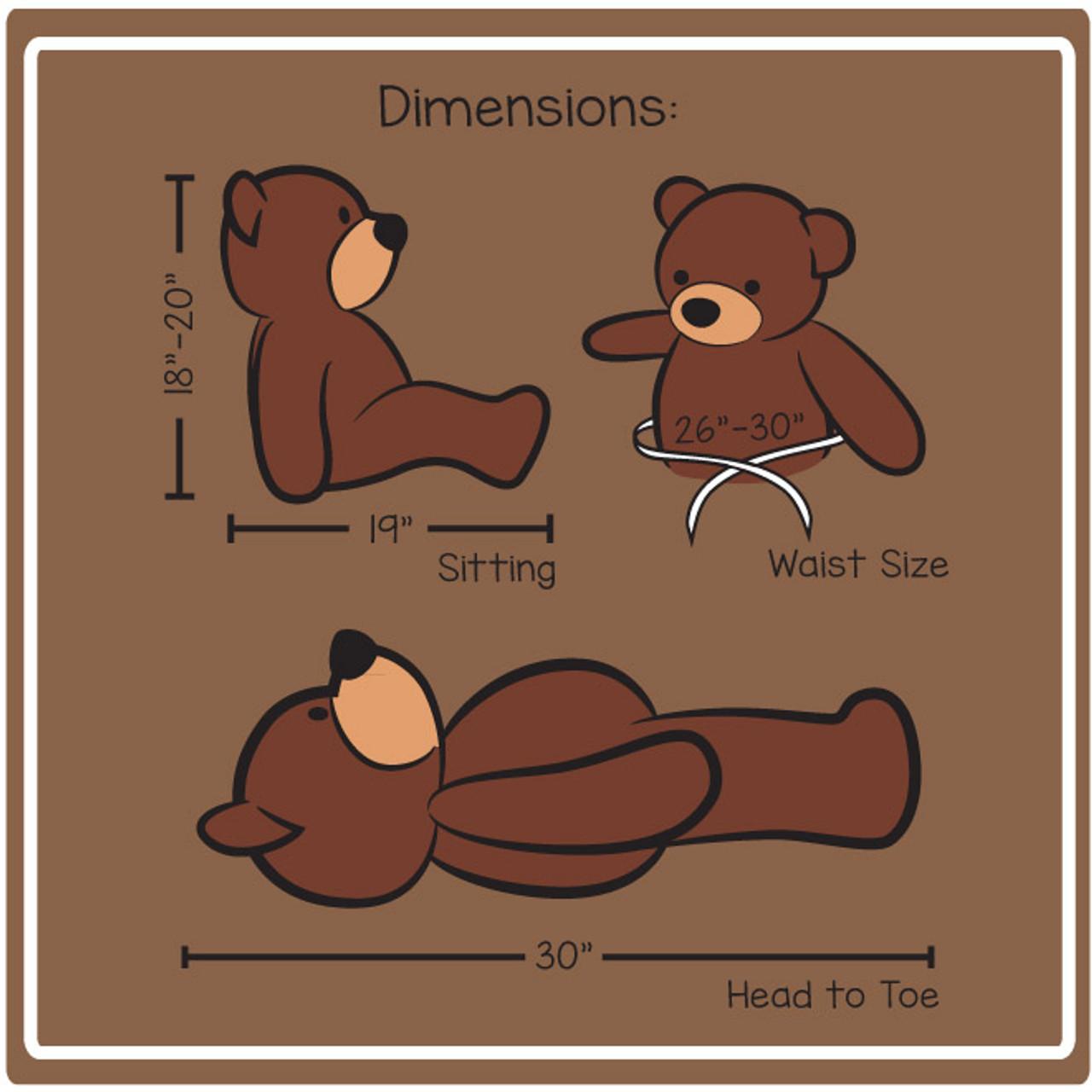 30in cuddles dimensions