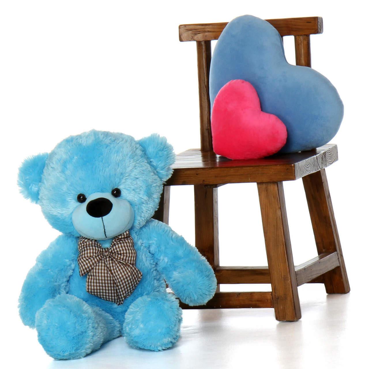 30in Happy Cuddles Blue Teddy Bear Best gift