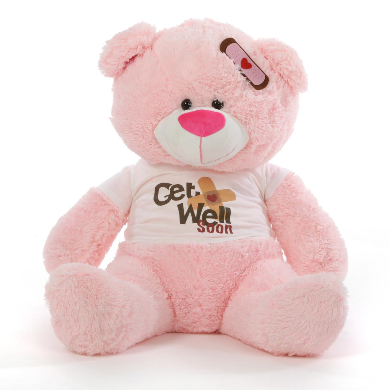 "35"" Get Well Soon Teddy Bear, Pink"