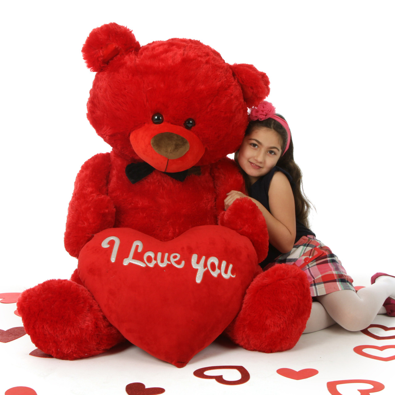 "52in Huge Red Valentine's Day Teddy Bear with ""I Love You"" Heart Randy Shags"