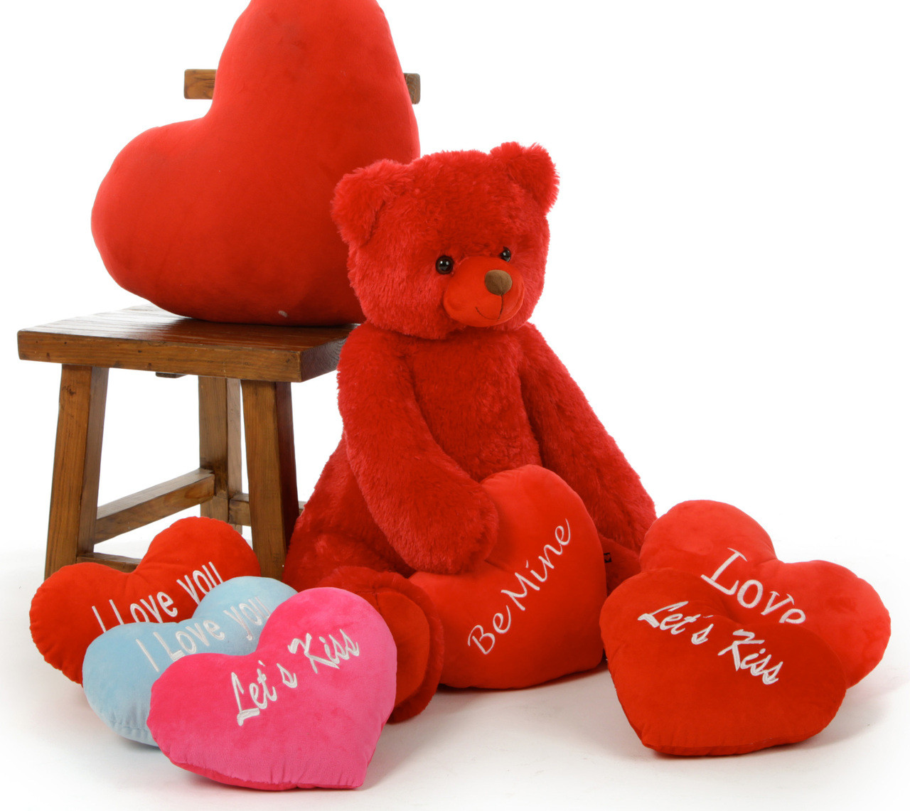 Huge Red Valentine's Day Teddy Bears, 32in, With Plush