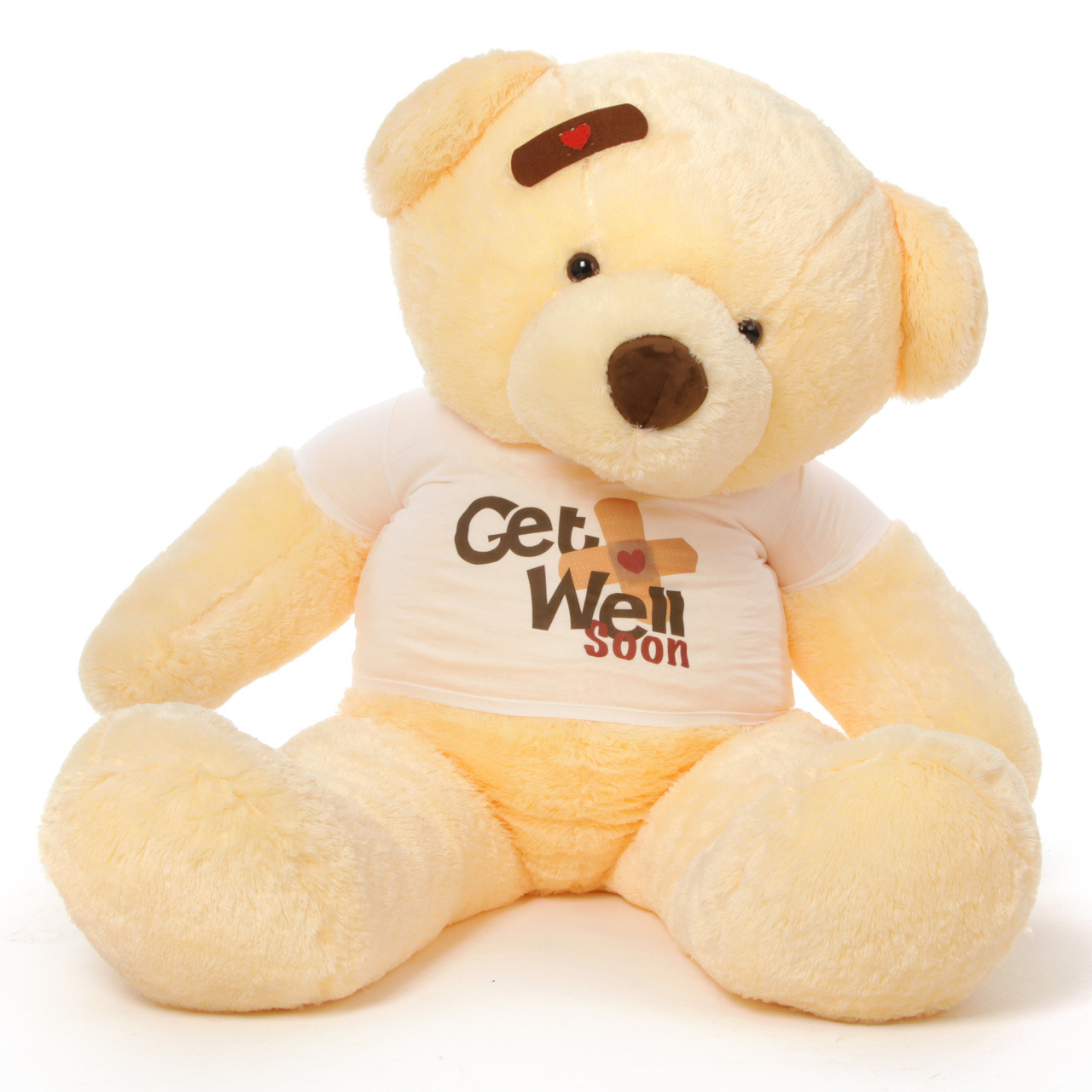 5ft huge adorable get well soon teddy bears in 3 colors with custom