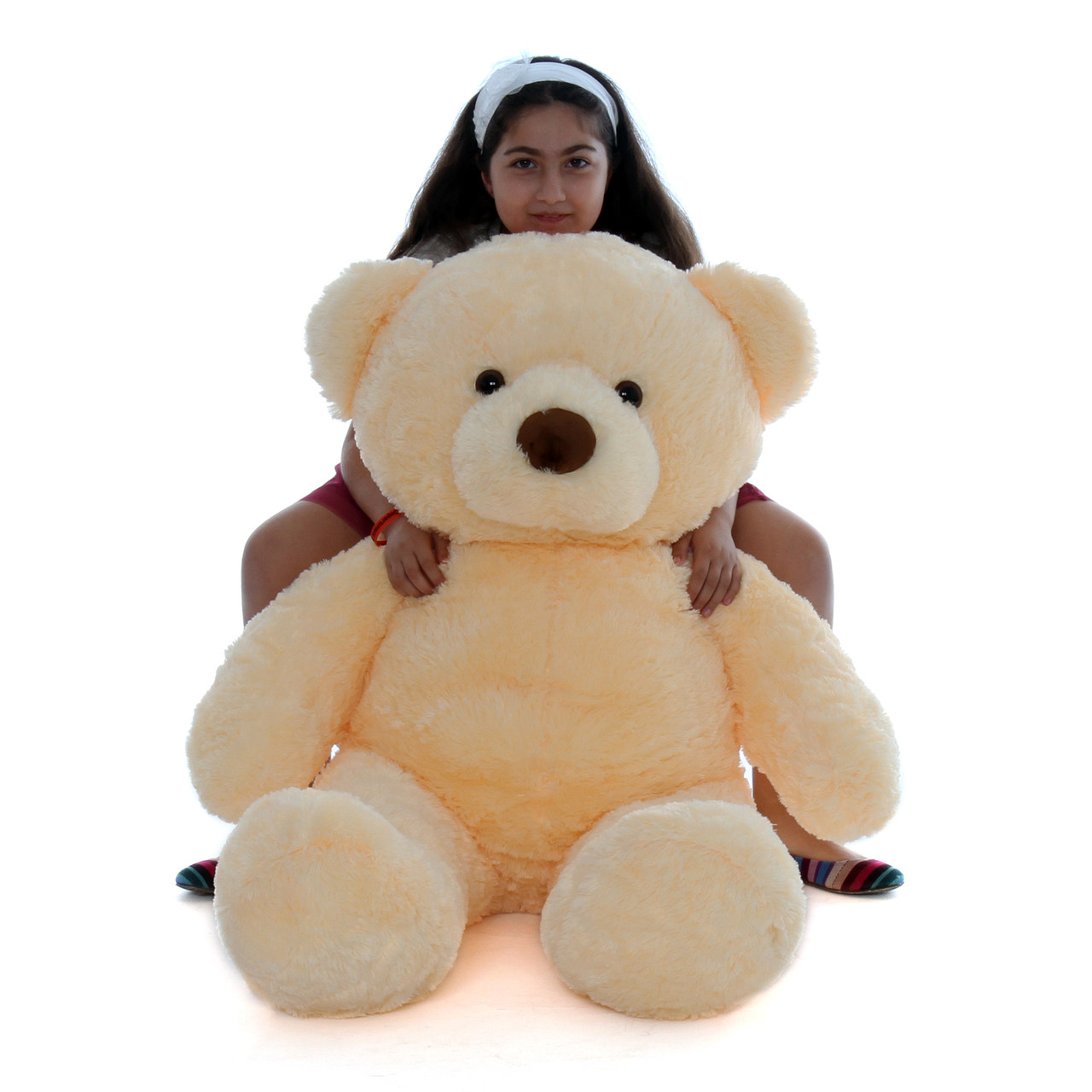 Smiley Chubs Adorable Life Size Vanilla Cream Teddy Bear 4Ft