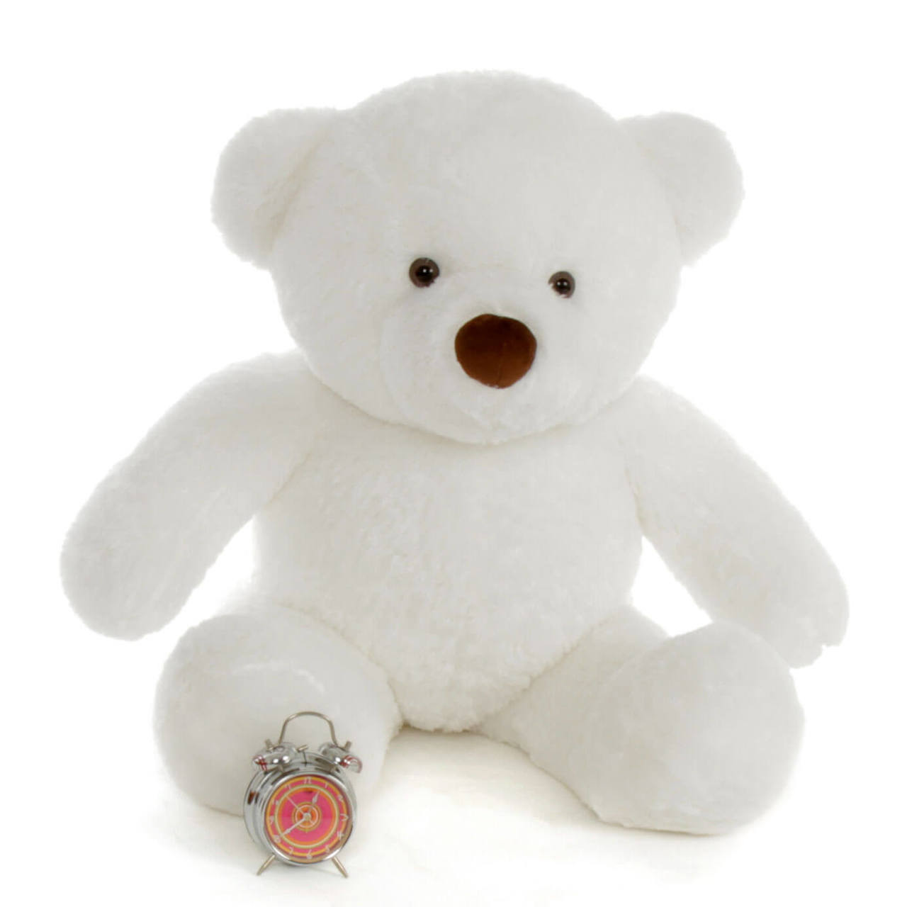 Sprinkle Chubs White Adorable Teddy Bear 3Ft (Clock NOT included)