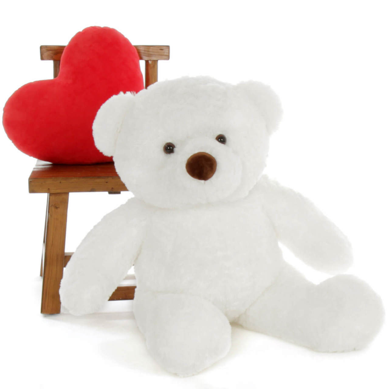 Sprinkle Chubs Huge White Teddy Bear 3Ft (Clock and Prop NOT included)