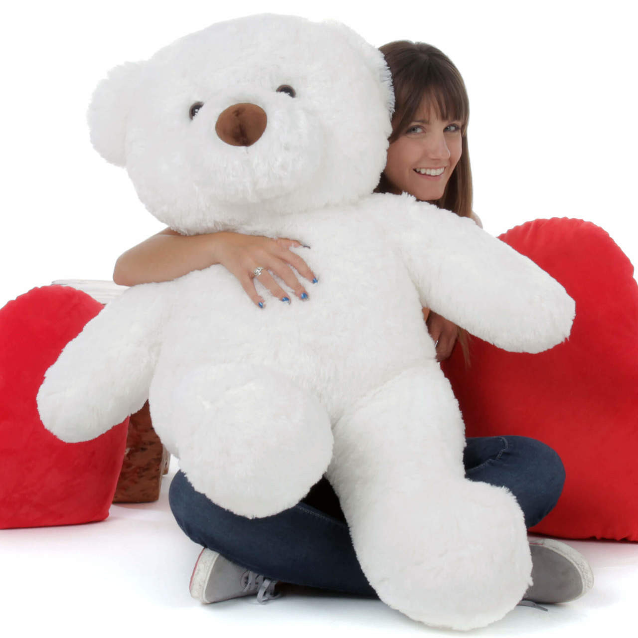 38in Teddy Bear White Sprinkle Chubs (Model and Hearts NOT included)