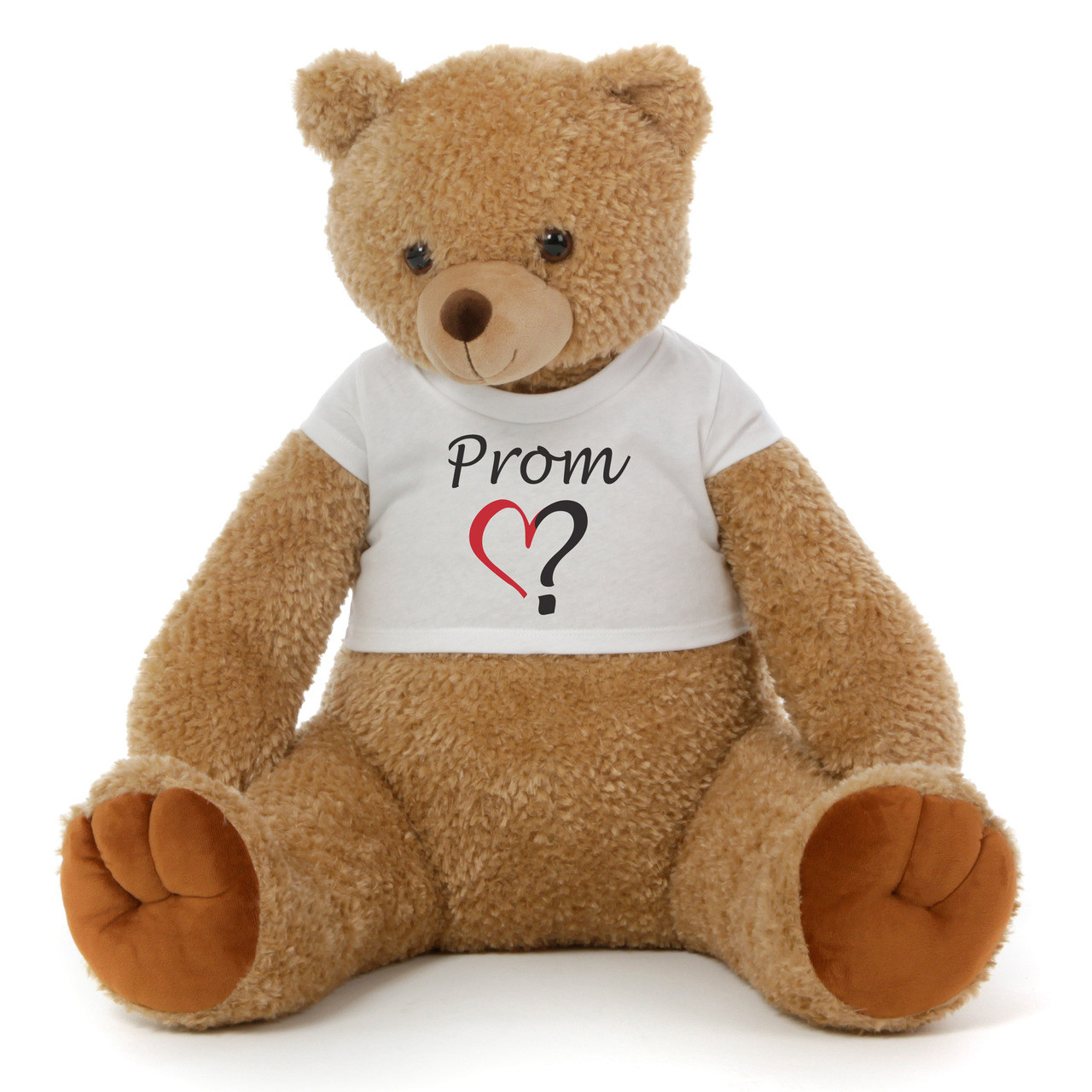 2½ ft Honey Tubs adorable amber brown Prom Teddy Bear (Prom? - Single Heart)