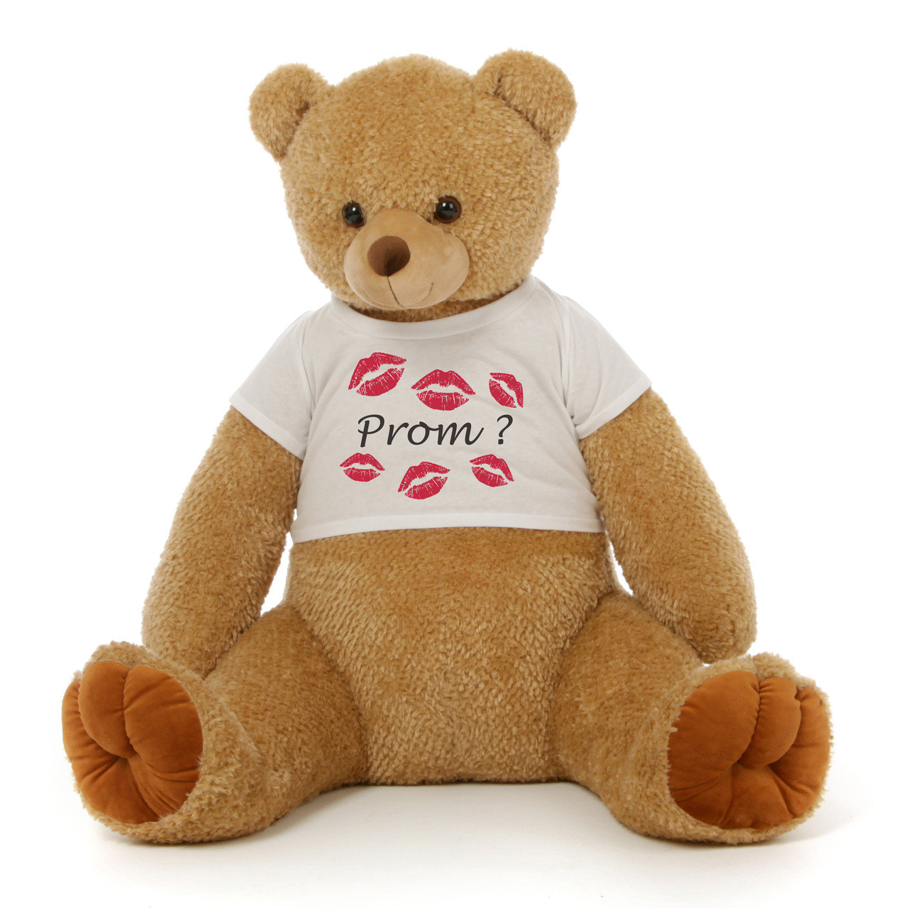 3½ ft Honey Tubs Adorable Amber Brown Prom Teddy Bear (Prom ? - Tiny Kisses)