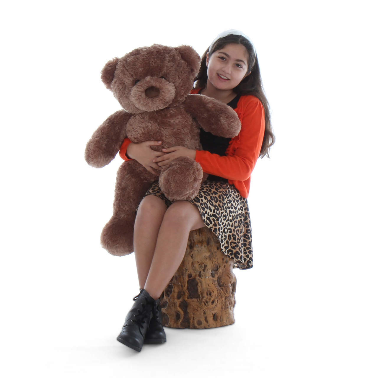 30in Mocha Teddy Bear Big Chubs