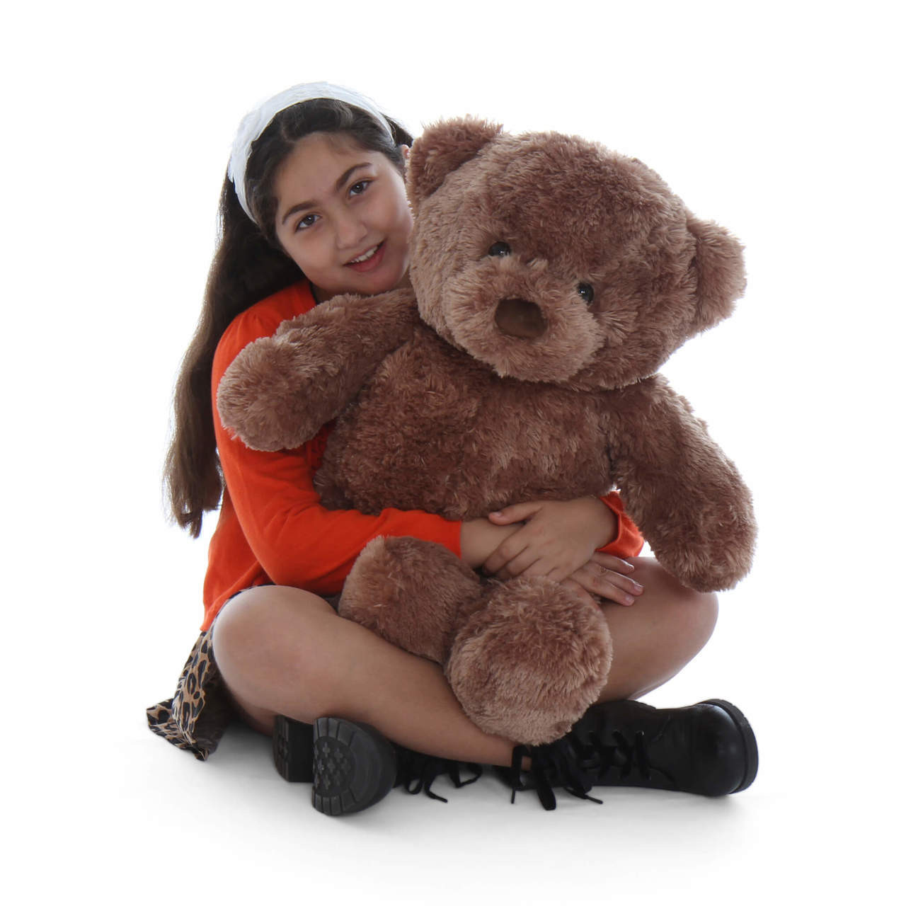2.5ft Big Chubs Mocha Brown Teddy Bear