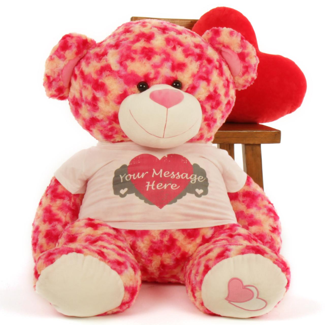 3½ ft Personalized Sassy Big Love Valentine's Day Teddy Bear