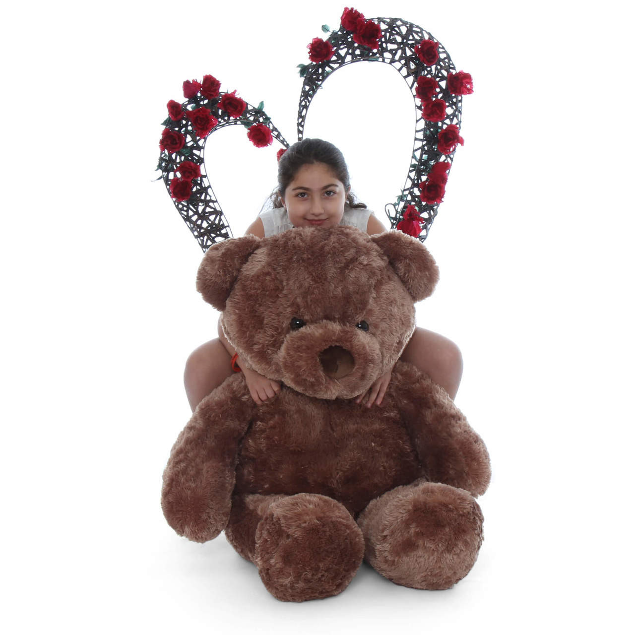 Chubs is a huge 48in (4ft) teddy bear with mocha brown fur