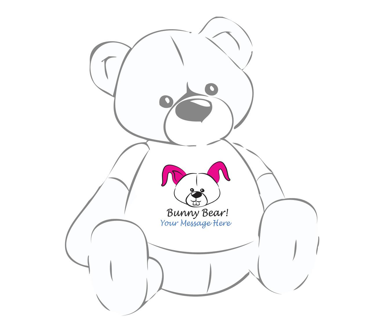 Personalized Bunny Bear! Giant Teddy Bear Easter shirta