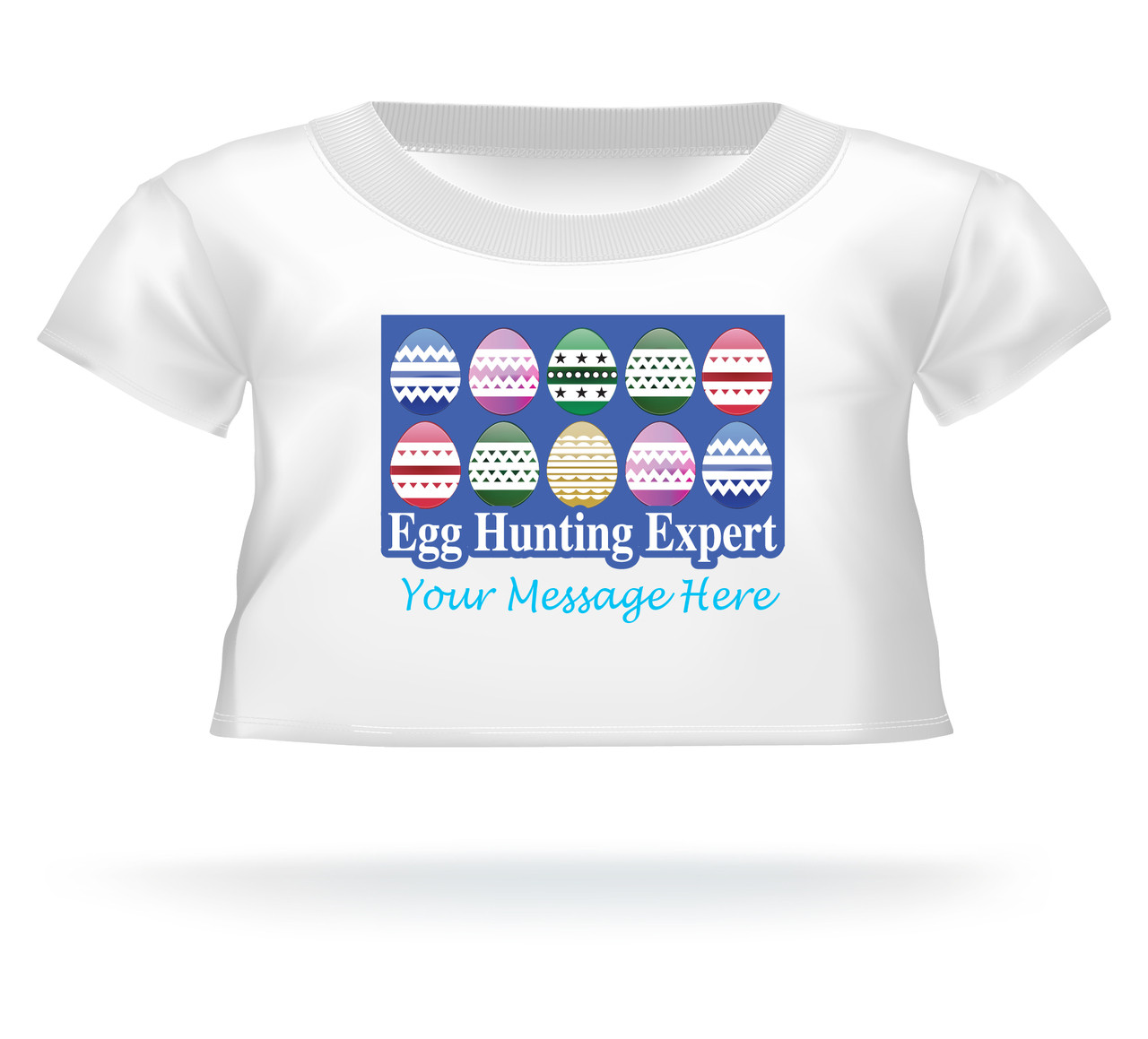 """Egg Hunting Expert"" Personalized Easter shirt for Giant Teddy bears"