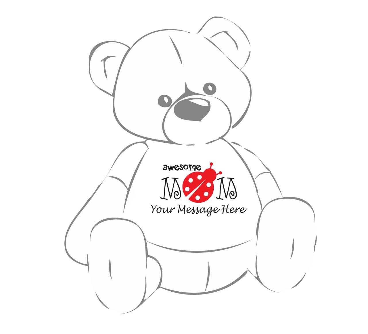 Awesome Mom Lady bug Personalized Giant Teddy Bear shirt