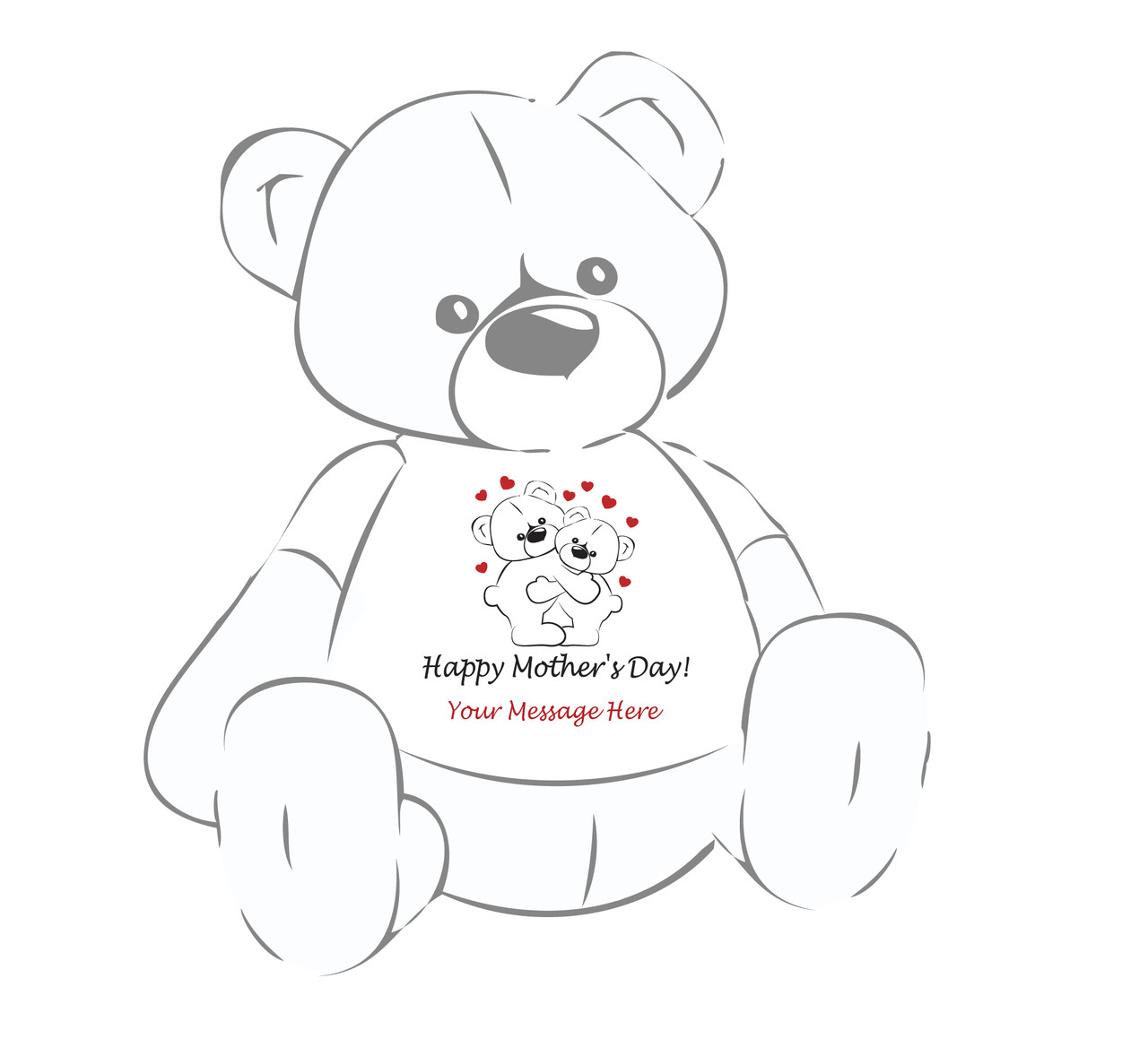 I Love you Mom Personalized Giant Teddy Bear shirt