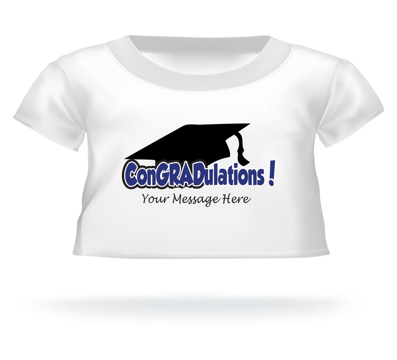 personalized graduation giant teddy bear congradulations shirt