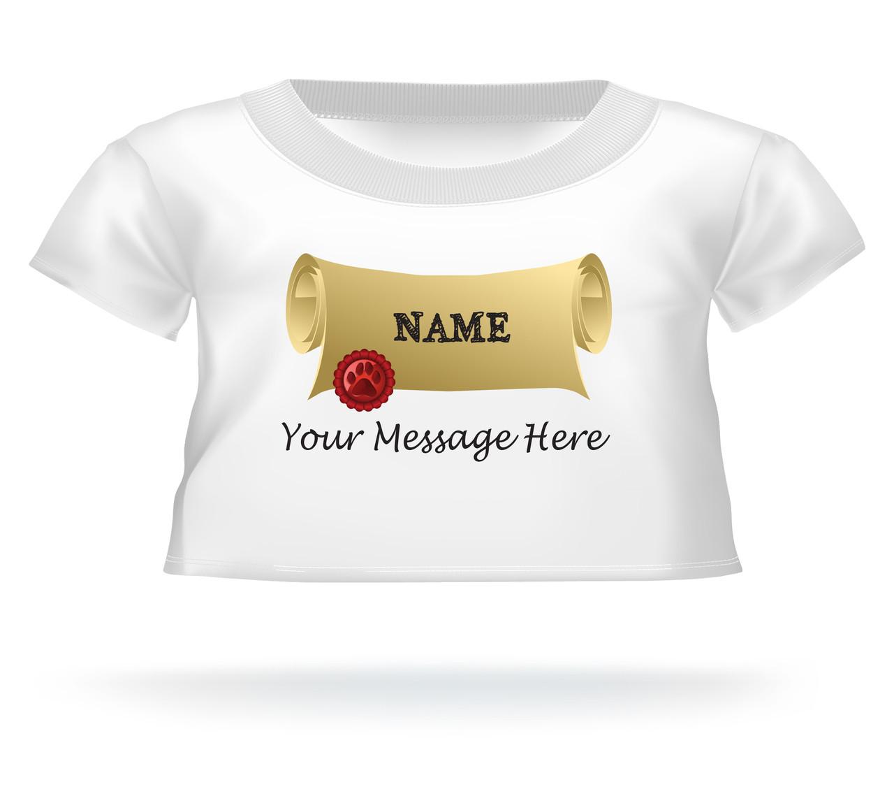 personalized graduation giant teddy bear name on diploma shirt