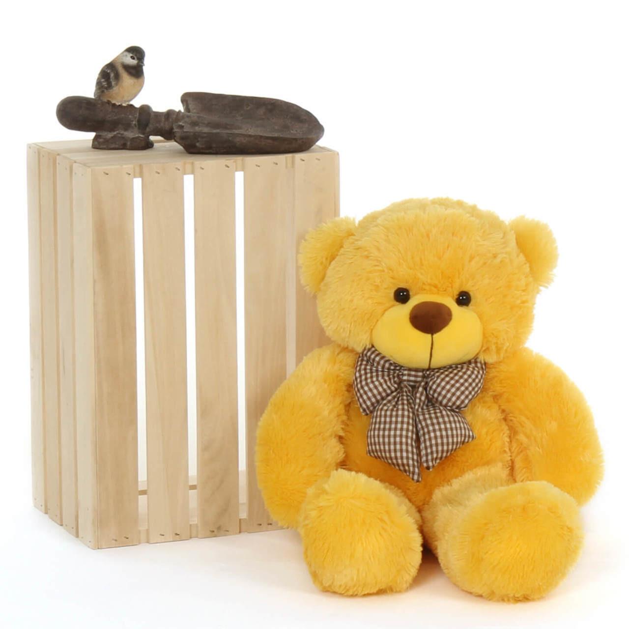 24in beautiful cuddly Yellow daisy giant Teddy Bear huggable