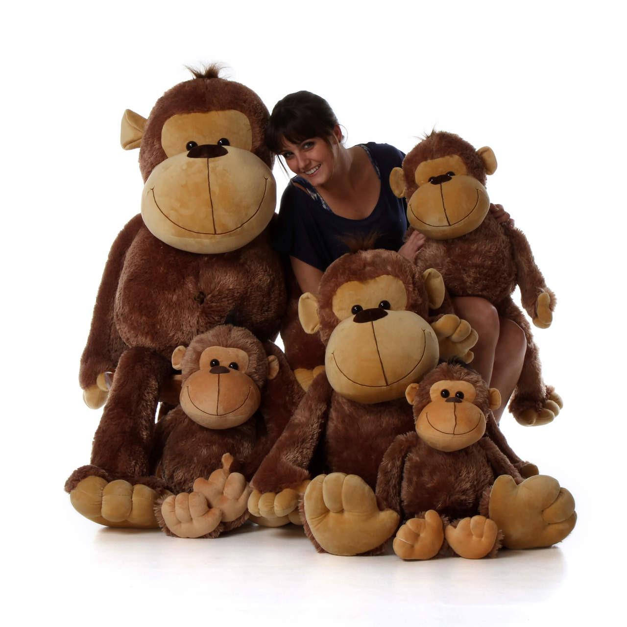 Big Stuffed Monkeys family from Giant Teddy brand
