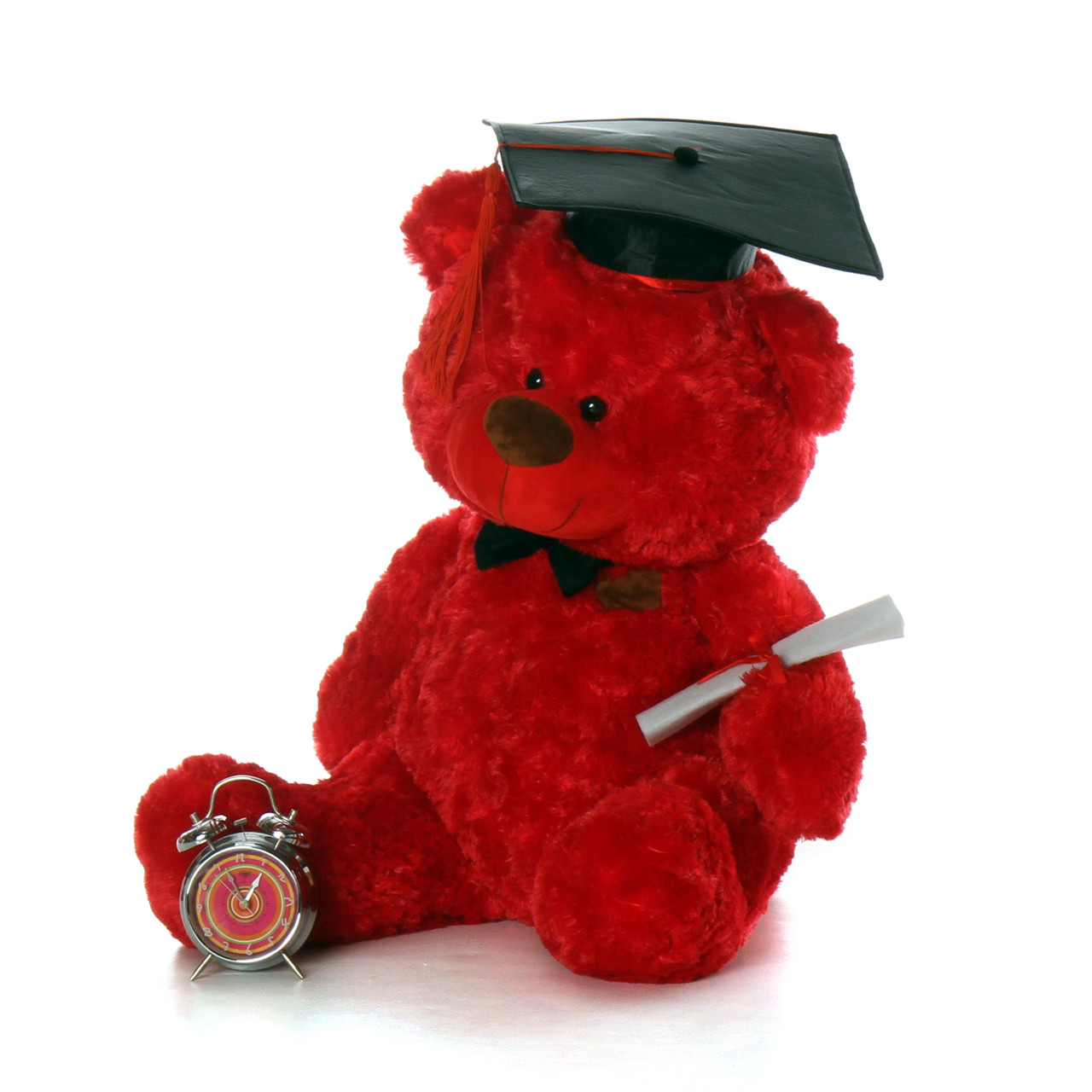 3ft Red Graduation Teddy Bear with Cap, Diploma and Bow Tie