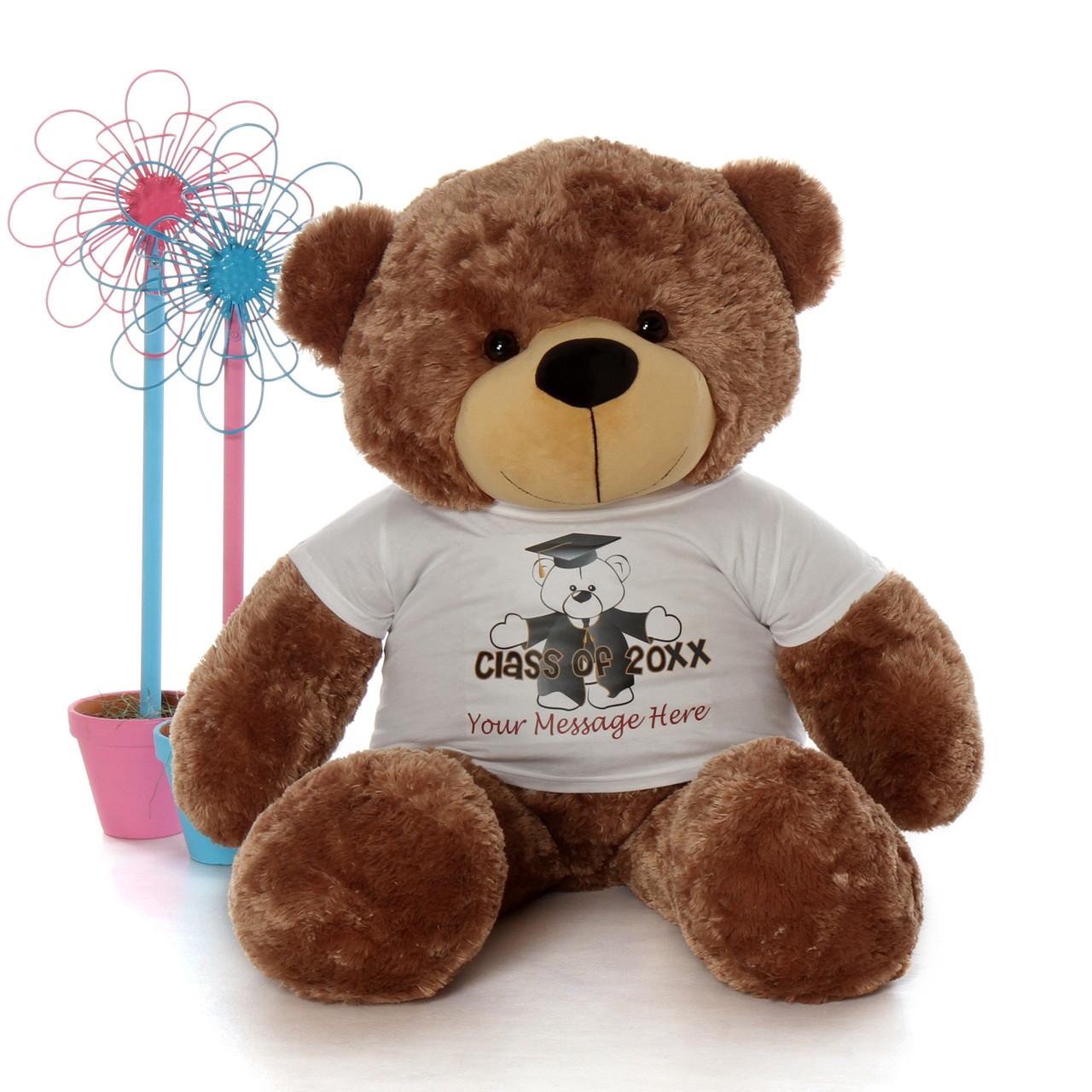 48in Mocha Cuddles Teddy Bear Class of 2019