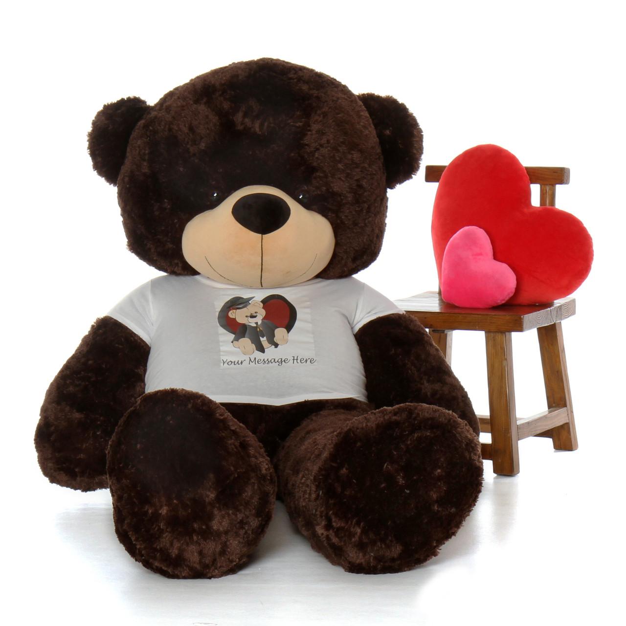Graduation Gift 60in Vanilla teddy bear Class of 2019