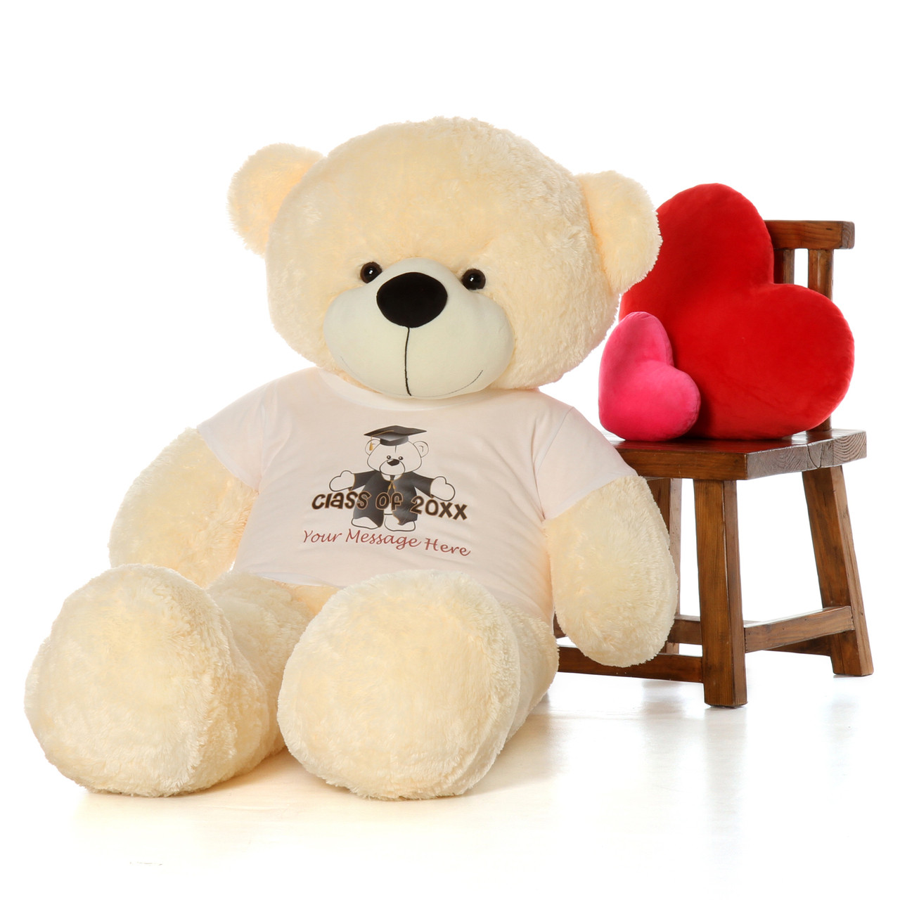 Personalized Class of 2017 5ft Cozy Cuddles Vanilla Cream Teddy Bear
