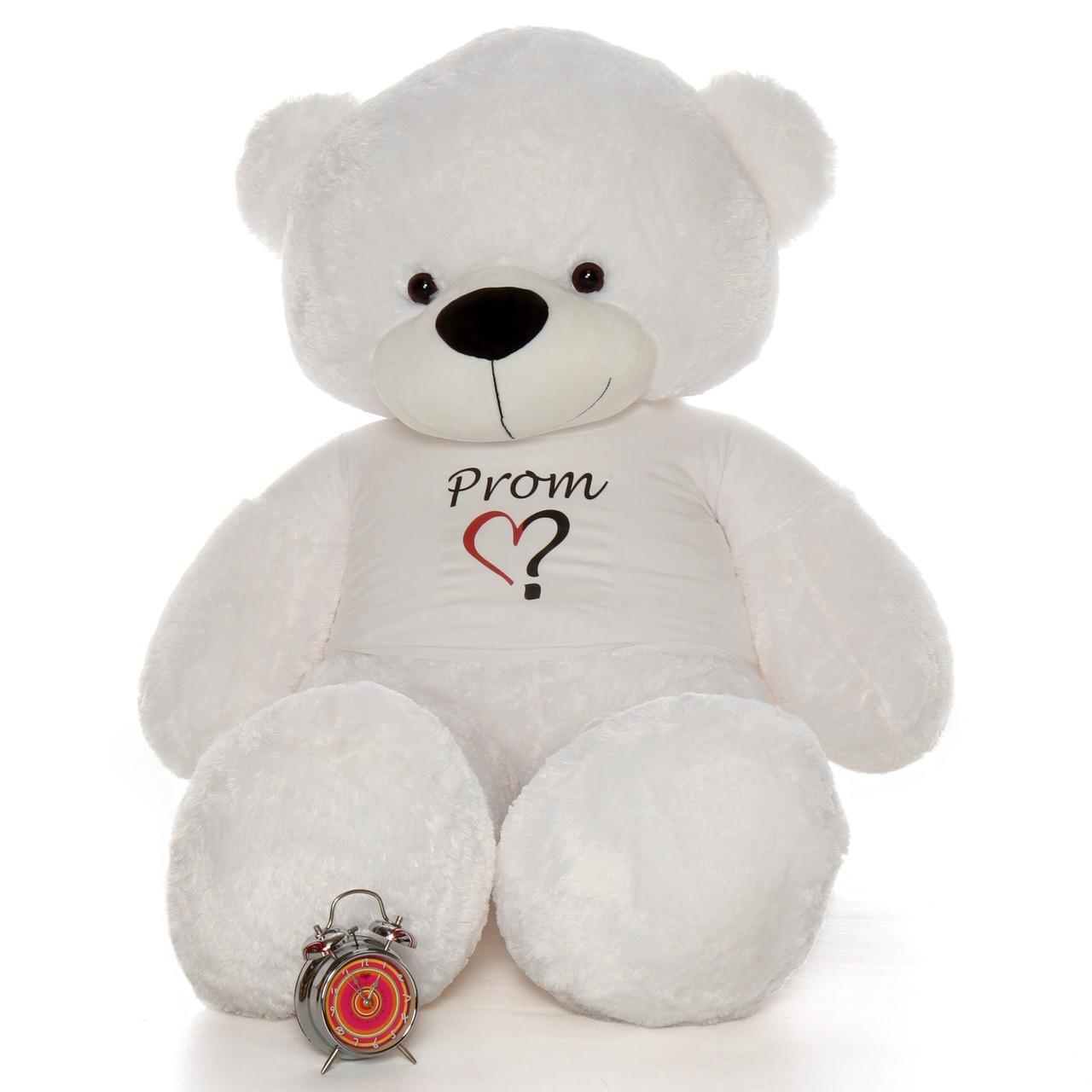 Life Size 6ft Ask a Date To Prom Teddy Bear White Coco Cuddles from Giant Teddy