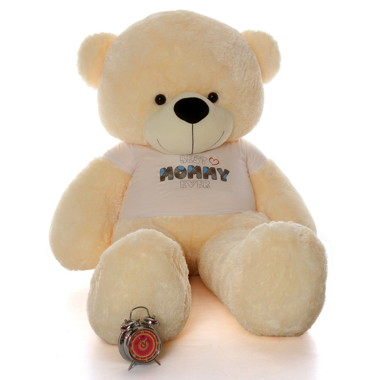 Mother's Day teddy bear 72in cream Cozy Cuddles in Best Mommy Ever shirt